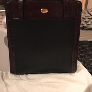 Beautiful Bally Brown and Black Leather Purse